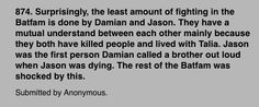 Damian and Jason bro feels #batfam #headcanons