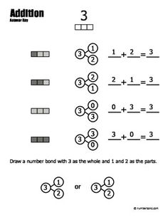 Christmas Number Bond Worksheets  Number bonds worksheets Number