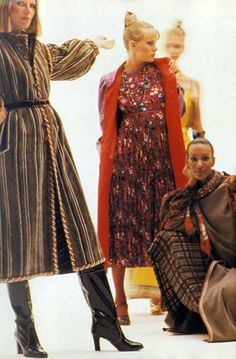 Ungaro collection by Duane Michaels Vogue 1976