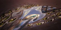 Zaha Hadid's latest building, the headquarters for UAE's environmental management company Bee'ah, in the emirate of Sharjah.