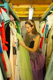 racks of costumes in a theater Authors Perspective, Contemporary Romance Novels, Theater, Sari, Costumes, Summer, Fashion, Saree, Moda
