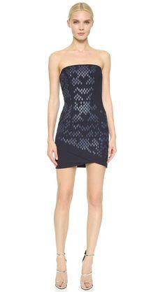 Jay Ahr Strapless Dress