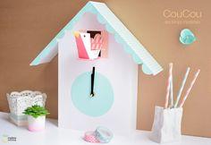 en el pais de la piruleta...: Un reloj de cuco de papel