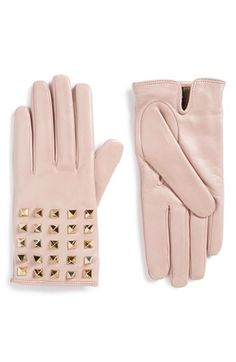Valentino Rockstud Leather Gloves available at #Nordstrom