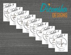 1 Corinthians 13 Script Table Numbers #Christian #wedding by DiconshaDesigns, $12.00