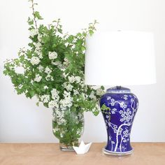 Mia Blue Oriental Ceramic Table Lamp | Black Mango Rattan Furniture, Metal Furniture, Large Lamps, Black Table Lamps, Task Lamps, Linseed Oil, Ceramic Table Lamps, Lamp Bases, White Ceramics