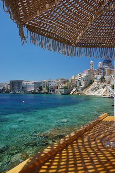 Welcome Mixer at Asteria Beach Bar Syros Greece, Santorini Greece, Greece Wallpaper, Greek Beauty, Beach Bars, Greece Travel, Greek Islands, Amazing Destinations, Vacation Spots