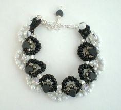 square knot fan micro macrame bracelet on by RosemarysHomestead, $20.00