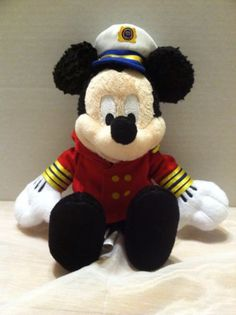 Captain Mickey Plush Doll 12 Inch Disney Cruise Lines