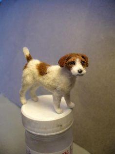 Dollhouse Miniature Jack Russell Dog *Handsculpted*