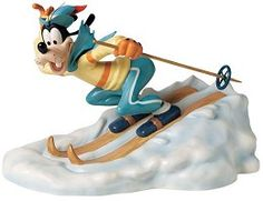 WDCC Disney Classics Art Of SkIIng Goofy All Downhill From Here #WDCCDisneyClassics #Art. Limited Edition of 1000 pcs. As eager as he is clumsy, Goofy happily zips down a snowy peak proud that he has avoided crashing into a tree - so far. Plussed with pewter ears and bronze ski pole.
