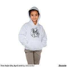 Free Style G84 Girls' Hanes ComfortBlend® Hoodie   #design #fashion #freestyle #girl #hoodie #sweatshirt