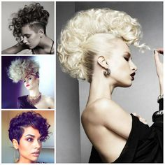 2017 Curly Mohawk Hairstyle Ideas for Women