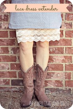 of Dwelling and Dress: Lace Dress Extender