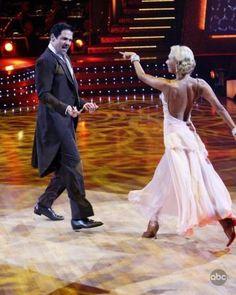 Kym Johnson & Mark Cuban dancing the Foxtrot.