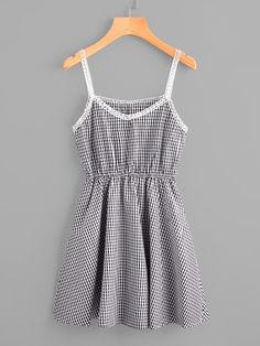 Search for Gingham Print at ROMWE. Cute Dresses, Casual Dresses, Short Dresses, Casual Outfits, Summer Dresses, Casual Clothes, Trendy Dresses, Dress Outfits, Girl Outfits