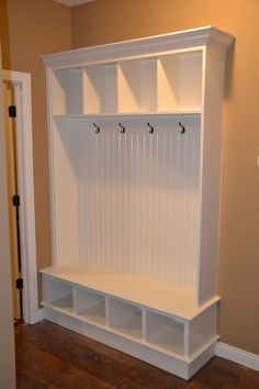 I would love this! We have the bench in the mud room, just need the hooks for back packs and storage above and under.