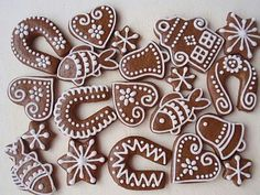 Gingerbread Decorations, Christmas Gingerbread, Gingerbread Cookies, Star Cookies, Cake Cookies, Cookies Decorados, Funny Cake, Christmas Cupcakes, Christmas Baking