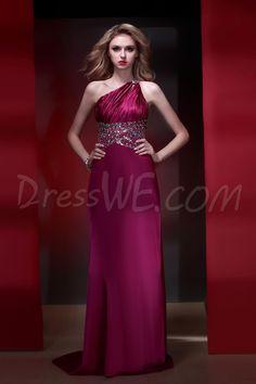 $137.19 Dresswe.com SUPPLIES Graceful One-Shoulder Floor-Length Column Empire Waistline Dasha's Evening Dress