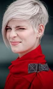 Image result for pixie cut with long bangs