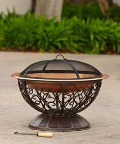 Look what I found on #zulily! Copper Fire Bowl & Cover #zulilyfinds