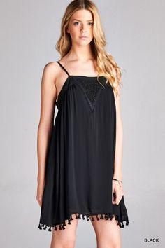 Black Tassel Dress