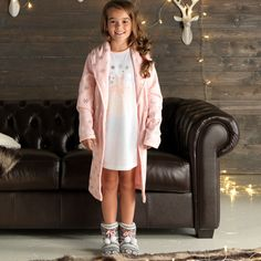 Cherokee Girls Foil Print Dressing Gown and Nightie