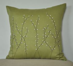 Pussy Willow Throw Pillow Cover Decorative Pillow от KainKain