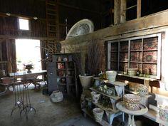 Inside the garden shop at Northwind Perennial Farm in Burlington, WI