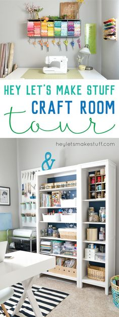 Come and take a tour of my craft room! I love my organized crafty space -- I sew, craft, DIY, and do all sorts of making in my happy space.