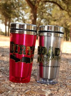BrAND new in GypSYviLLE! by popular demand! dirtroad DreAMER travel mugs! stainless steel & pure awesomeness! junkgypsies