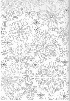 Scandinavian Coloring Book Pg 61 Snowflakes Template PrintableSnowflake