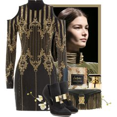 Balmain by flordemaria on Polyvore featuring moda, Balmain and Pier 1 Imports