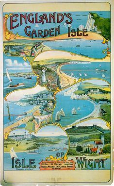 Painting - Isle Of Wight England - Vintage Travel Advertising Poster by Studio Grafiikka , Posters Uk, Railway Posters, Isle Of Wight England, Isle Wight, Ryde Isle Of Wight, Illustrations Vintage, British Travel, Advertising Poster, Vintage Travel Posters