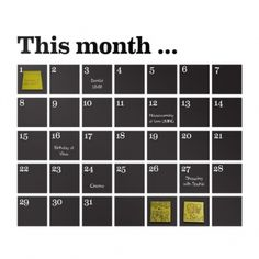 Calendar sisustustarra