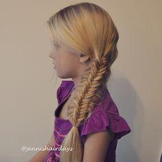 split fishtail braid #cghmessysplitfishtail kalanruotoletti by Jenni's Hairdays