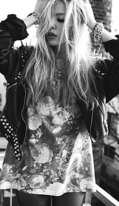 #grunge #floral #punk #fashion #photography