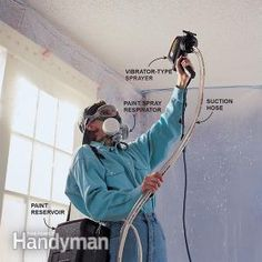 Renew that old acoustical ceiling with a coat of paint. We'll show you an easy way to do it.