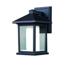 "View the Z-Lite 523S 1 Light Down Lighting 10"" Height Outdoor Wall Light with Glass Square Shade from the Mesa Collection at LightingDirect.com."