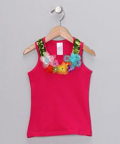 Take a look at this Raspberry Floral Couture Tank - Toddler & Girls on zulily today!