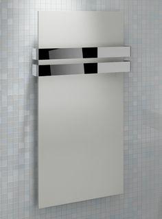 5060235346736 Kudox Designer Towel Rail Ikon x White & Chrome Double Towel Rail, Radiators, Architecture, Ikon, Decoration, Wall Lights, Chrome, Bathroom, Interior