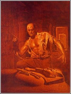 James Bama cover of the Doc Savage series by Bantam Books