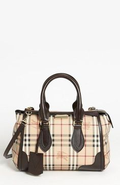 2b8eb255c2a1 Burberry  Haymarket Check  Satchel available at - leather coin purse