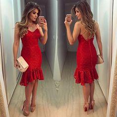 Red ❤️ Vestido @docemaria_oficial para @closetdamay  Como não amar??