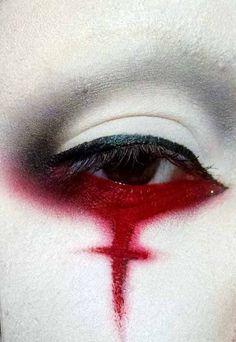 Red Rosso Rouge Rojo Rød 赤 Vermelho Color Colour Texture Form Pattern Style Edgy Makeup, Gothic Makeup, Dark Makeup, Sfx Makeup, Cosplay Makeup, Fantasy Makeup, Costume Makeup, Makeup Inspo, Makeup Art