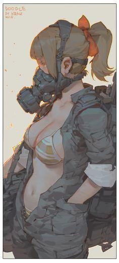 masks by Krenz #art #illustration #manga #anime #character #girl #pixiv #mask