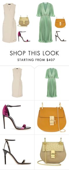 """""""summer time"""" by evelynakaakar ❤ liked on Polyvore featuring Theory, Halston Heritage, Casadei, Chloé and Jimmy Choo"""