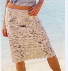 0057 - Modele de fuste si rochii crosetate