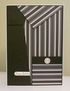 shirt & tie - black