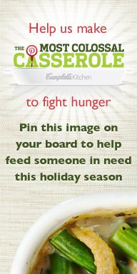 ***** In November Green Bean Casserole fans pinned over servings to help donate dollars to Feeding America. Greenbean Casserole Recipe, Casserole Recipes, Campbells Soup Recipes, Classic Green Bean Casserole, Frozen Green Beans, Chops Recipe, Creamed Mushrooms, Food Hacks, Favorite Recipes